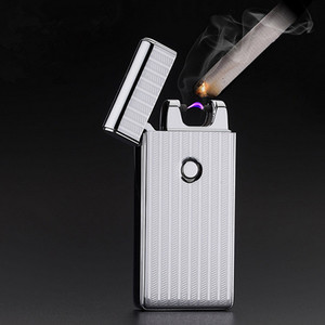 Image 2 - Thunder USB Lighter Rechargeable Electronic Cigarette Accessorie Torch Plasma Cigar Arc Palse Lighter Pulse Windproof Lighter