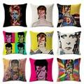Европа американский рок поп стиль красочные Дэвид Боуи Чехлы для подушек дома декоративные диван пледы наволочки Almofada Cojines - фото