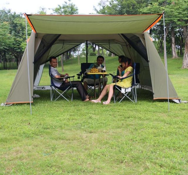 Непромокаемая двухслойная наружная Солнцезащитная 4 угла Садовая Беседка/многопользовательская кемпинговая палатка для вечеринок/тент противомоскитная