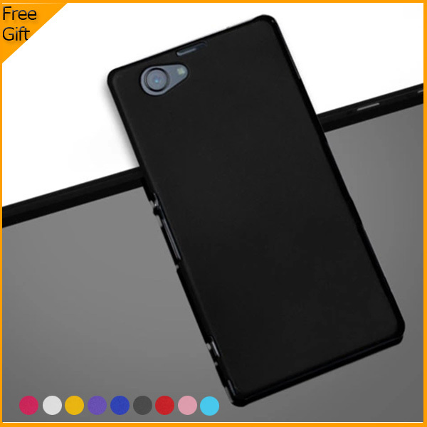 2015 New Luxury Rubber Matte Hard Plastic Case Back Cover for Sony Xperia Z1 Compact Z1 Mini D5503 Mobile Phone Cases With Gift