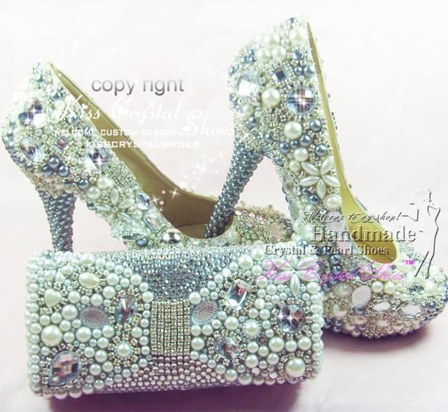Grey Wedding Shoes With Pearls Bride Buy Online Italian Shoe And Bag