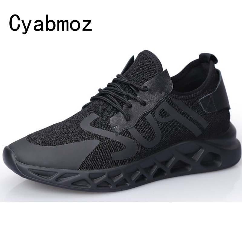 Noir Lacets Jeune Maille Respirant Hommes 6 Qualité Hauteur Chaussures Hombre Black D'été Supérieure Augmentation Compensées Conduite À Cm Mâle Sneakers rBodCeQxW
