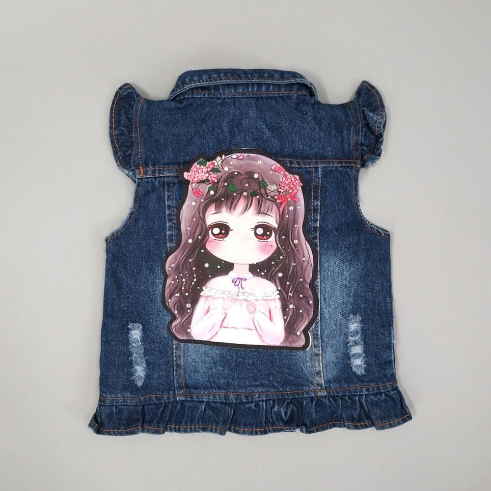 c102bc7b6 2 7T Baby Jeans Vest Babe Jeans Jacket Denim Outerwear Children ...