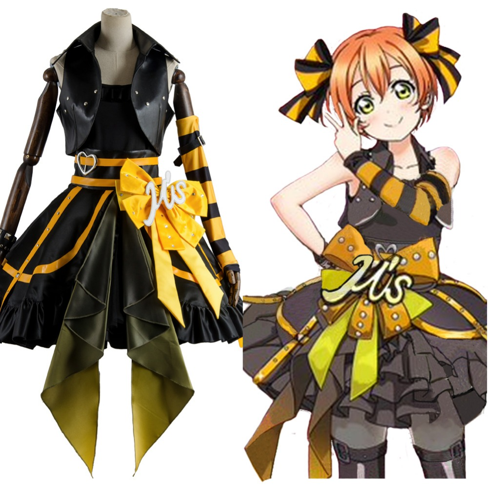 Love Live Arcade 3rd Gen Rin Hoshizora Stage Suit Cosplay Costume Dress Outfit full set