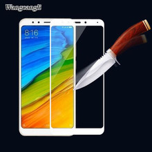 wcncanli Tempered Glass For Xiaomi Redmi 5A 5 Note Full Cover Screen Protective Protector Film Plus