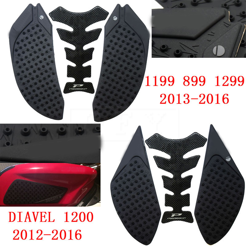 Motorcycle Fuel Tank Pad Protector Sticker Decal Gas Knee Grip Tank Traction Pad Side 3m For Ducati 848 1098 1198 Complete Range Of Articles Motorcycle Accessories & Parts Motorbike Accessories