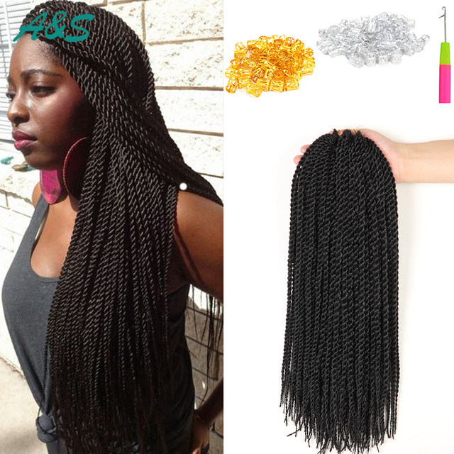 18 Inches Supreme Quality Faux Locs Synthetic Weave Crochet Braid