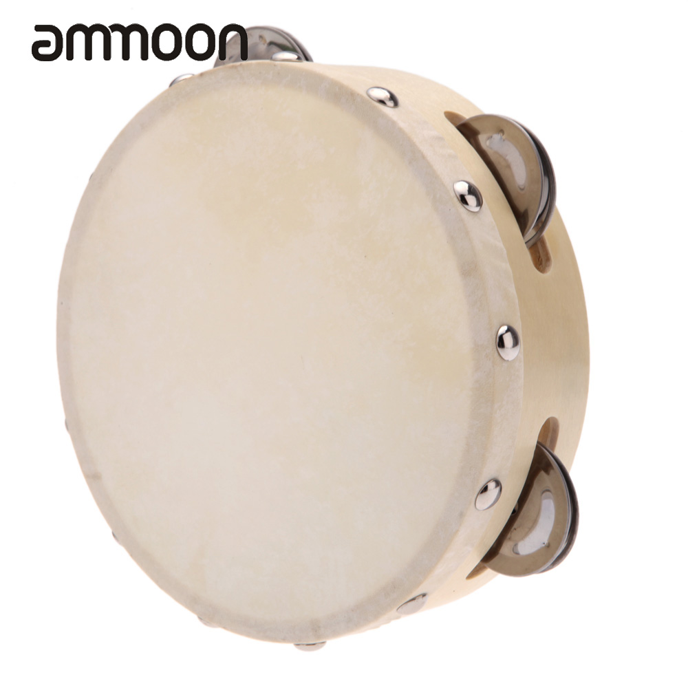 buy 6in hand held tambourine drum bell metal jingles percussion musical parts. Black Bedroom Furniture Sets. Home Design Ideas