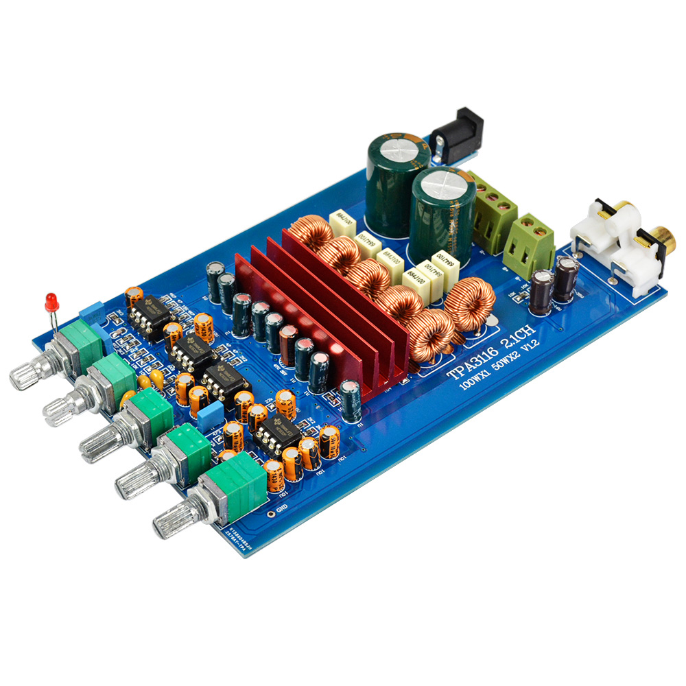 AIYIMA TPA3116 2 1 Digital Audio Amplifier Board 50W*2+100W TPA3116D2  Subwoofer Amplifier DIY Sound System Speaker DC 9-25V