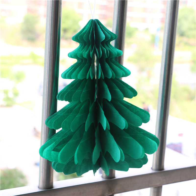 6pcs 27cm Christmas Tree Honeycombs Tissue Paper Trees: Popular Honeycomb Christmas Tree-Buy Cheap Honeycomb