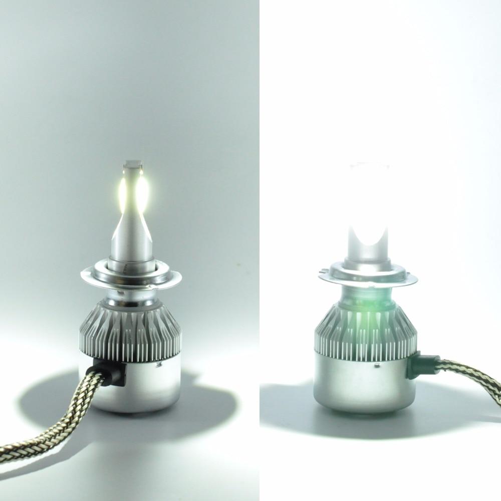 AutoEC 1 Set 36W High Bright COB C6 LED Fara 2500 / 3600LM H4 H7 H11 - Avtomobil işıqları - Fotoqrafiya 6