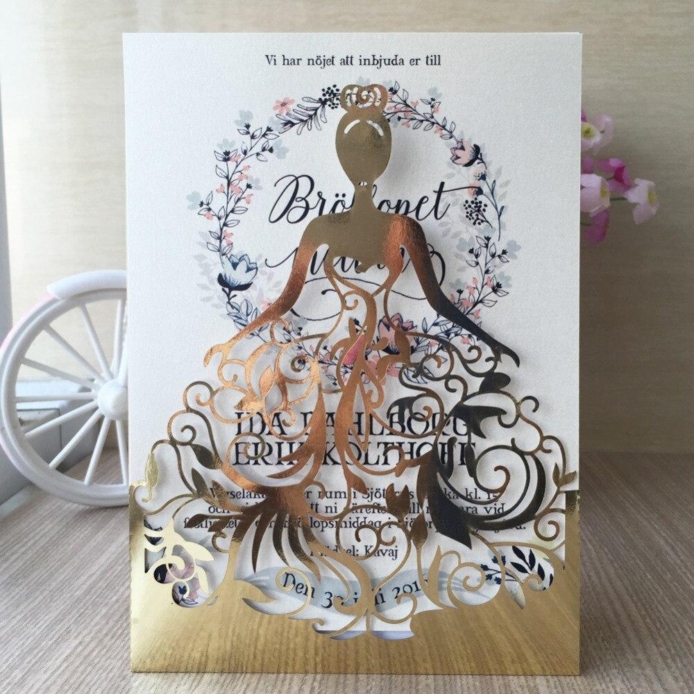 Hot Sell Beautiful Sweet 16 Birthday Invitation Card For Girls