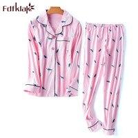Fdfklak M XXL Plus Size Nursing Pajamas Spring Autumn Cotton Sleep & Lounge Printing Nursing Pyjama Sleepwear Maternity F169