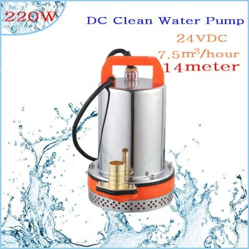 DC 24V 220W 7.5T/H  Lift,Small Submersible Solar energy Water Pump Outdoor Garden Deep Well Car Wash bilge Cleaning 24V