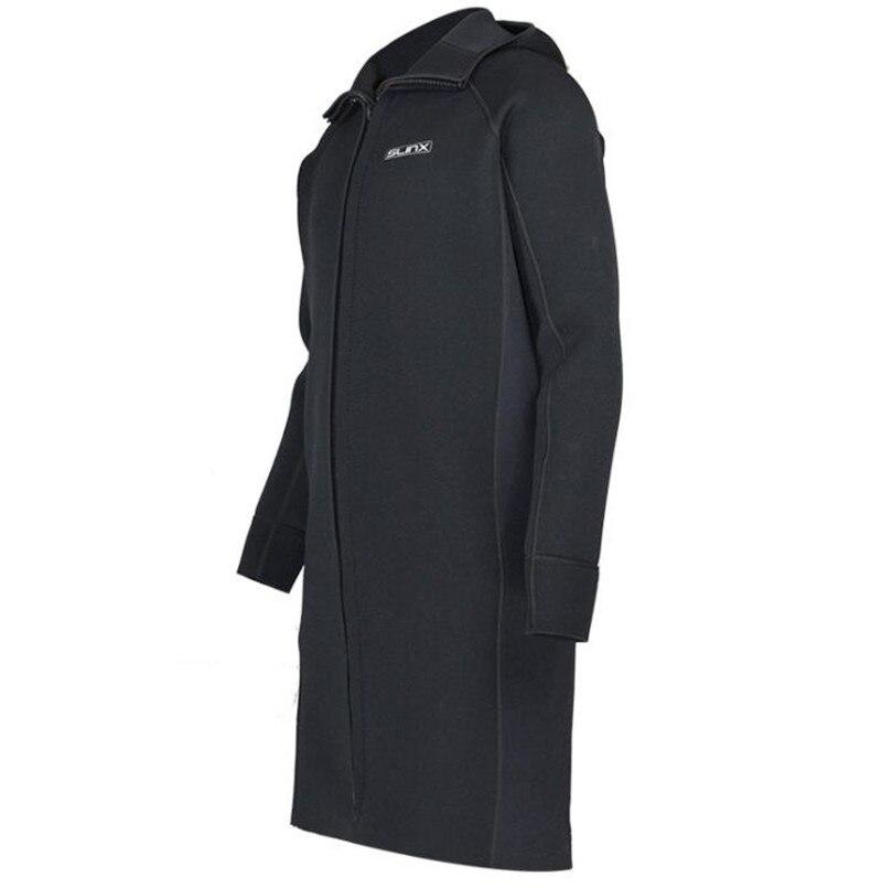 SLINX 3MM Neoprene Men Scuba Dive Jacket Wetsuit Long Sleeve Suit Winter Waterski Surfing Warm Swimwear Zipper Coat-in Wetsuit from Sports & Entertainment    3