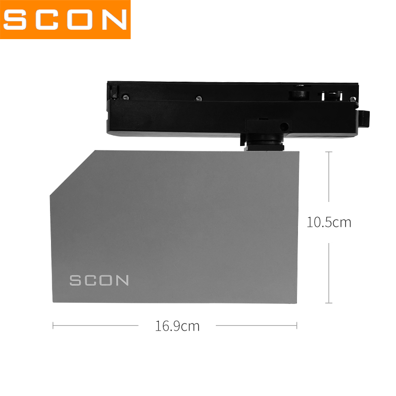 Image 4 - SCON 18W 3Wire Track lamp With 6pcs LED OSRAM Clothing Store Surface Mounted Spotlight 4000k Commercial indoor lighting Ra >93-in Track Lighting from Lights & Lighting