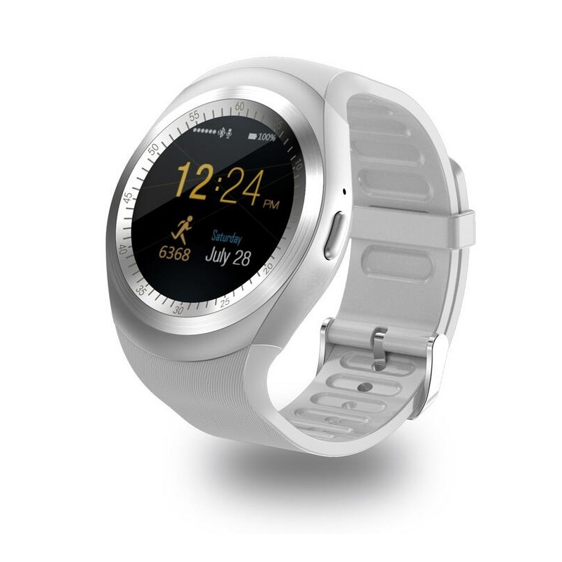 Y1 Smart Watch Round Nano SIM TF Card With Whatsapp Facebook fitness Business Smartwatch For Android P