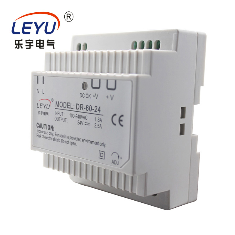 CE RoHS DR-60-24 Full range input Best quality hot sale 60W 24V DIN RAIL PSU