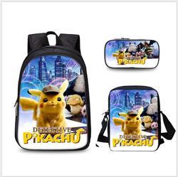 Anime Pokemon 3 sztuk zestaw plecak szkolny dla dzieci torby szkolne Pikachu druk piórnik dla dzieci Mochilas plecak szkolny 2