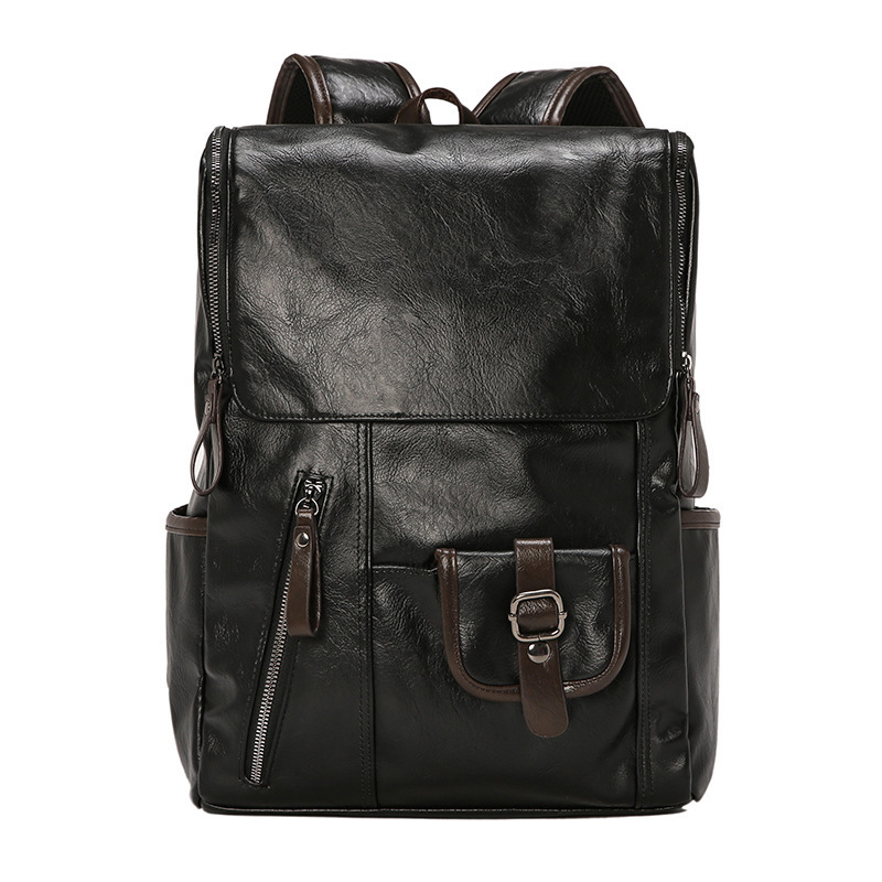 Man holographic business Backpack laptop men leather Both Shoulders Package Student A Bag Will Capacity Computer mochila 2019Man holographic business Backpack laptop men leather Both Shoulders Package Student A Bag Will Capacity Computer mochila 2019