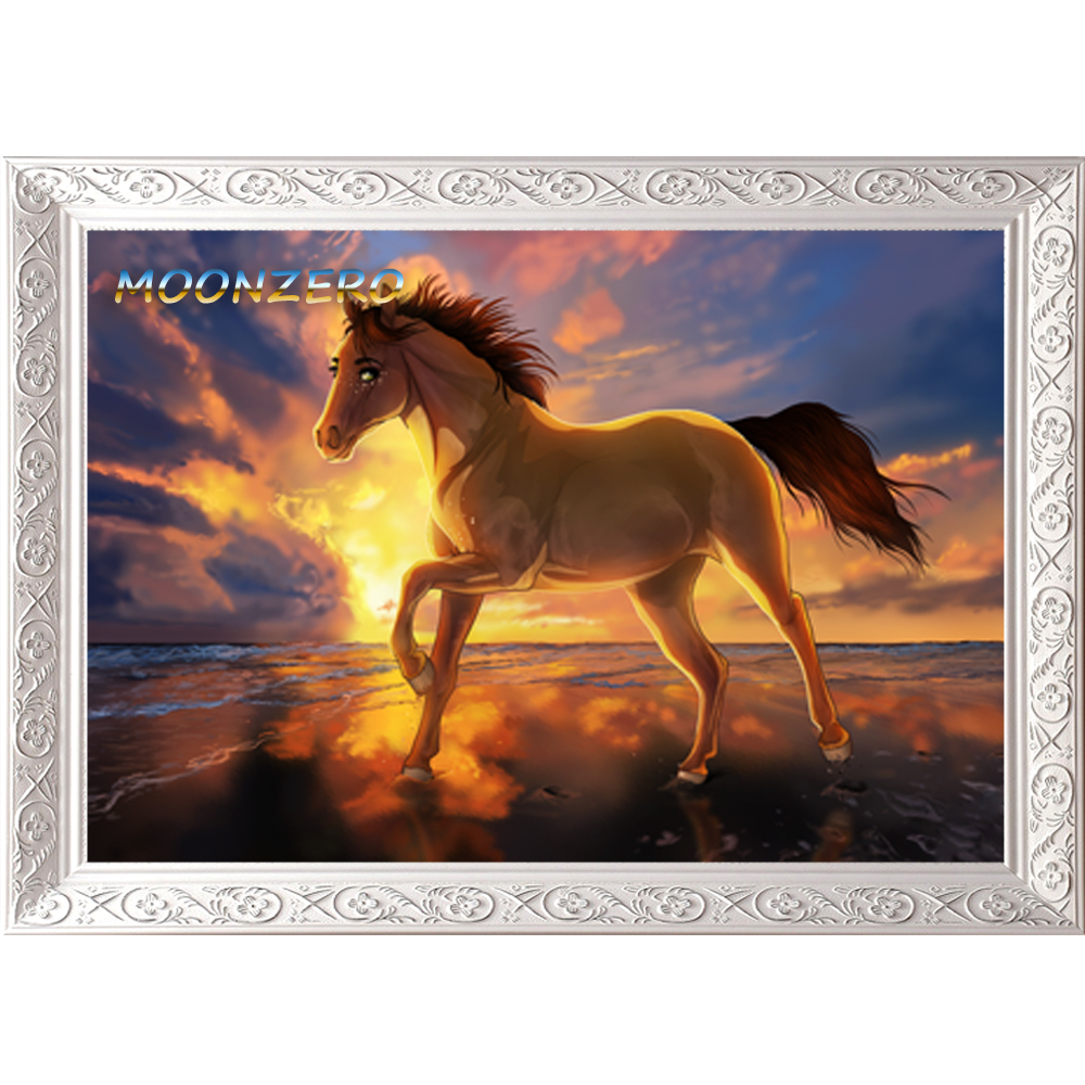 Horse Home Decor Rhinestone Painting DIY Diamond Painting 3D Cross Stitch kits Full Resin Mosaic Embroidery Needlework Sunset