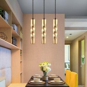 Image 5 - תליון מנורת dimmable אורות תליית מנורת מטבח אי אוכל חדר חנות בר דלפק קישוט צילינדר צינור מטבח אורות