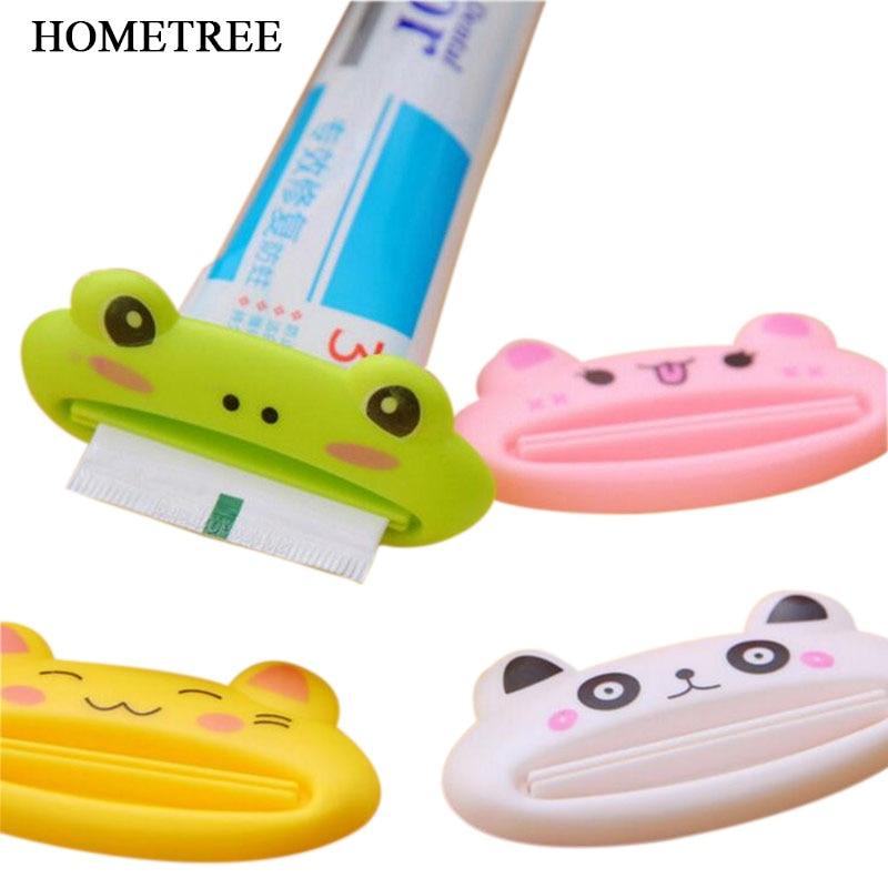 2pc Popular Bathroom Home Tube Rolling Holder Squeezer Easy Toothpaste Dispenser