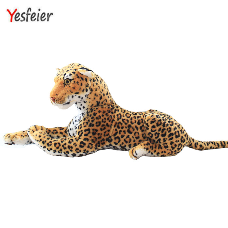 30-110cm Cute Soft Stuffed Animals leopard Plush Toys Pillow Animal Doll Cotton Girl yellow leopard Toys For Children 43inch papa plush dog 110cm kawaii soft animal oversize dog cute pap stuffed pusher pillow doll porcelain toys bouquet doll