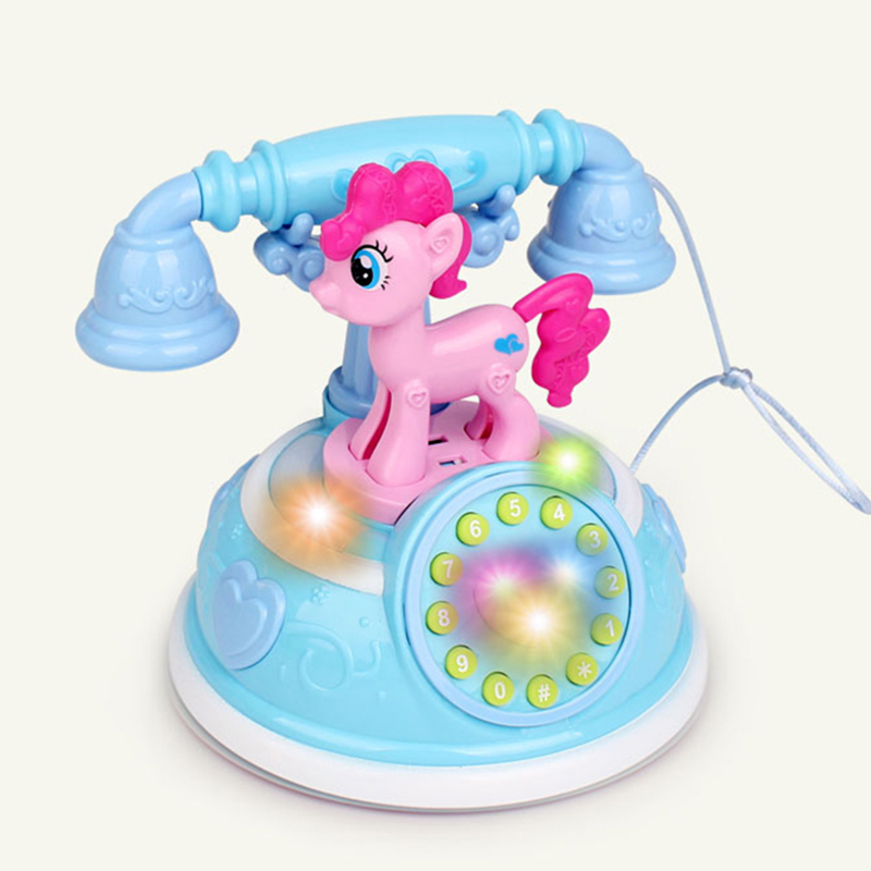 Retro Children's Phone Toy Phone Early Education Story Machine Baby Phone Emulated Telephone Toys For Children Musical Toys