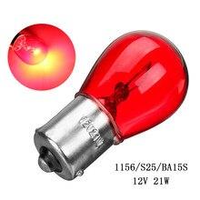 V w 1156 BA15S 21 12 S25 Car Auto Turn Signal Cauda Brake Parar Reversa Luzes Lâmpada Vermelha Lâmpada Traseira lâmpadas
