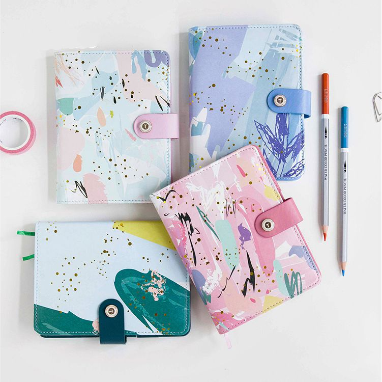 Creative Art Fashion A6 Journal Planner Book Weekly+Monthly+Daily Page+Blank Paper PU Leather Diary Notebook Gift Free Shipping