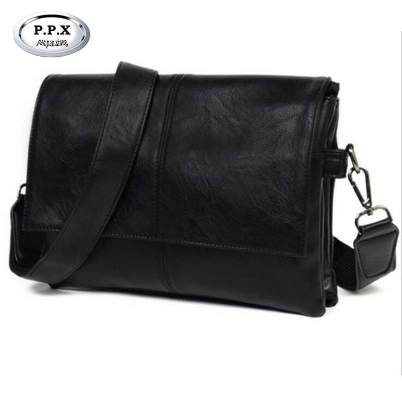 4bb83cdb59 Brand Korean Men s Shoulder Bag Waterproof PU Joker Envelope Bag Leather  Satchel Male Business Affairs Travel Handbag M471