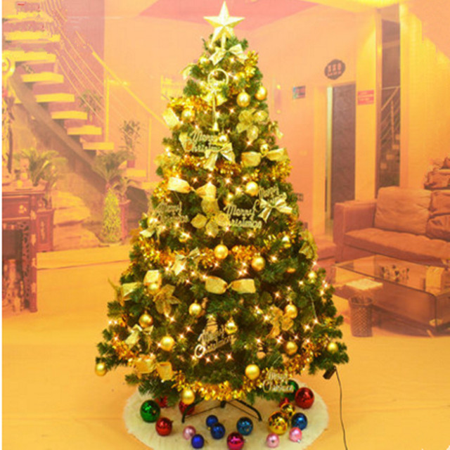 18m 180cm christmas tree decoration package encryption luminous christmas decorations christmas tree ornaments garden - Mall Christmas Decorations
