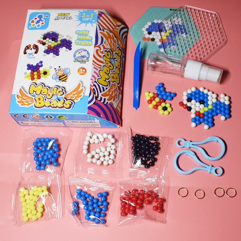 Perler Pegboard Beads Set Toy For Children Diy Water Dog&bee Fuse Jigsaw Kids Puzzle Girl Boy Beadbond Toys