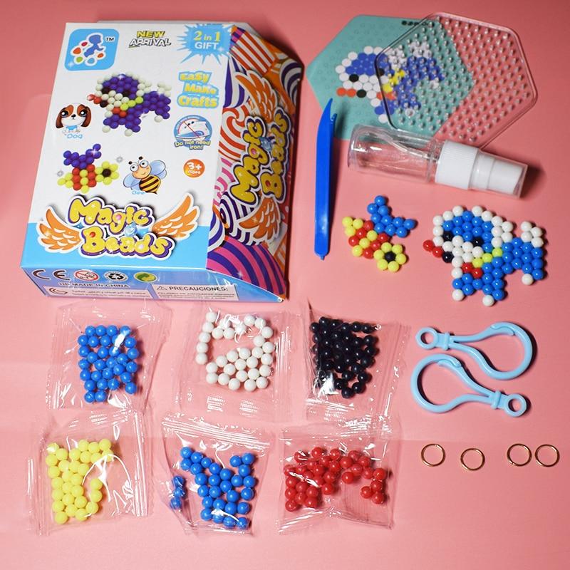Perler Pegboard Beads Set Toy For Children Diy Water Dog&bee Fuse Jigsaw Kids Puzzle Girl Boy Beadbond Toys