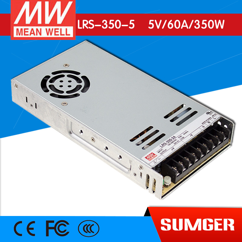 ФОТО [Freeshiping 1Pcs] MEAN WELL original LRS-350-5 5V 60A meanwell LRS-350 5V 300W Single Output Switching Power Supply