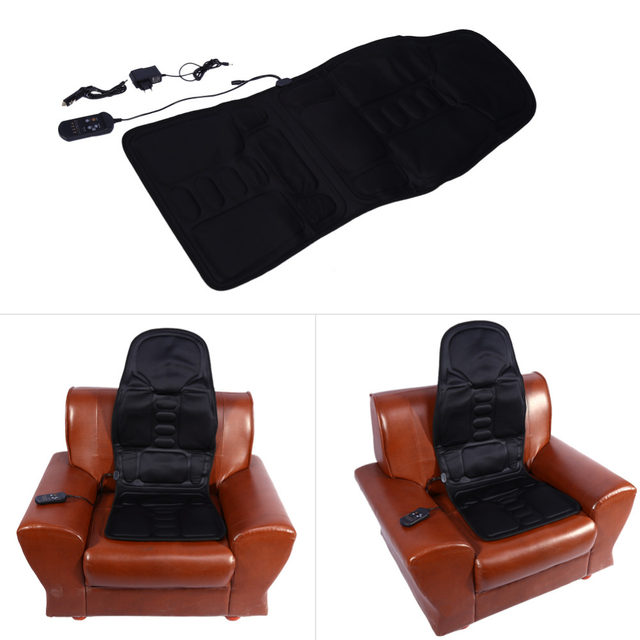 Electric Massage Chair Car Home Office Full Body Relax Back Neck Lumbar Pad  Seat Heat Vibrating Mattress Shiatsu Therapy Bed Pad