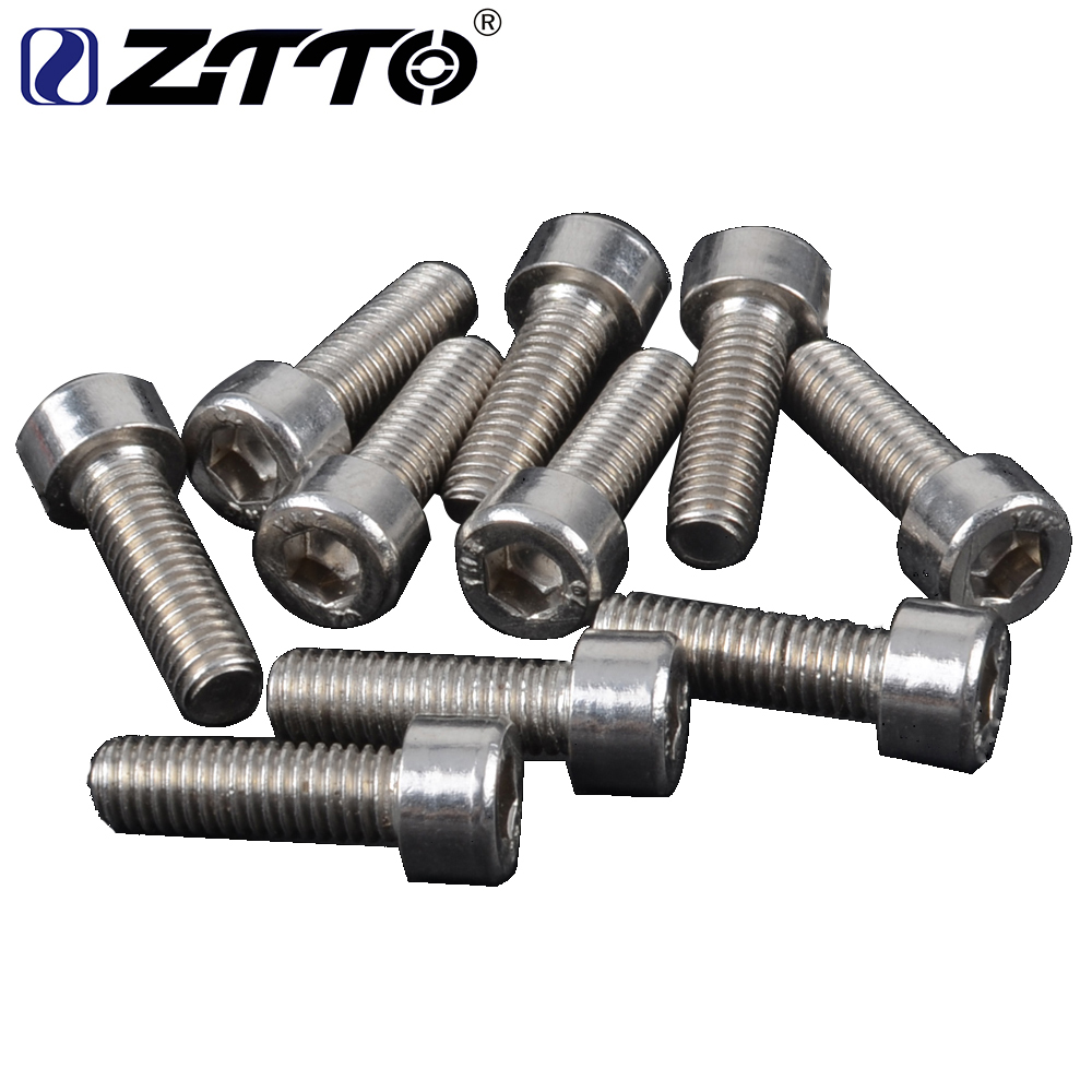2pcs Bicycle Water Bottle Holder Mount Bolts M5*10mm aluminium alloy Screw TT
