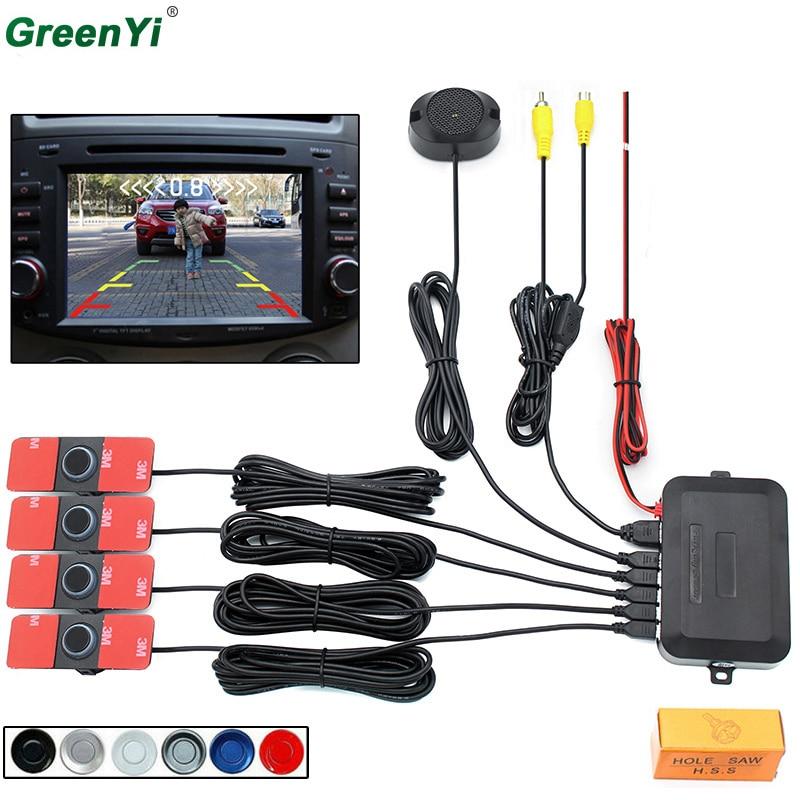 Автомобиль видео парковка Сенсор обратный резервный Антирадары Системы 13 мм оригинальный плоский Датчики можно подключить автомобильный DVD Мониторы сзади Камера