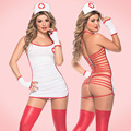 Halter Sexy Nurse Costume New Porn Women Sexy Lingerie Hot Erotic Lingerie Hollow Bandage Nurse Costume Package Hip Uniform