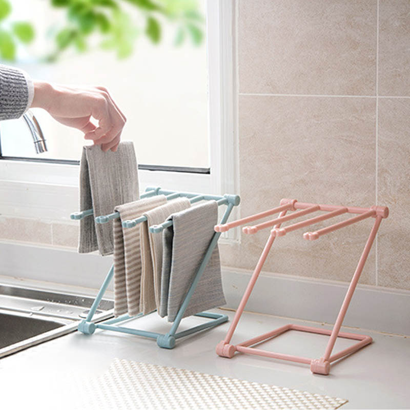 1pcs towel hanger foldable durable easy to clean hanger vertical table storage rack cup holder kitchen accessories
