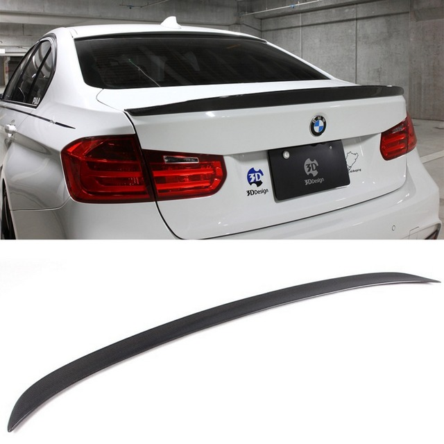 F30 3d Style Carbon Fiber Auto Trunk Boot Spoiler Wing Fit For Bmw 320i 328i 335i Sedan 2013