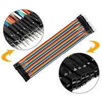 UXCELL Hot 40Pin Cabeçalho Rainbow Color Fio Idc Flat Cable Fita 1.3 milímetros DIY para FC IDC Espaçamento 2.54 milímetros pin Conector 160mm-510mm