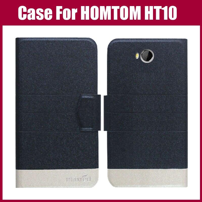 Forró eladó! HOMTOM HT10 tok Új érkezés 5 színű Fashion Flip - Mobiltelefon alkatrész és tartozékok