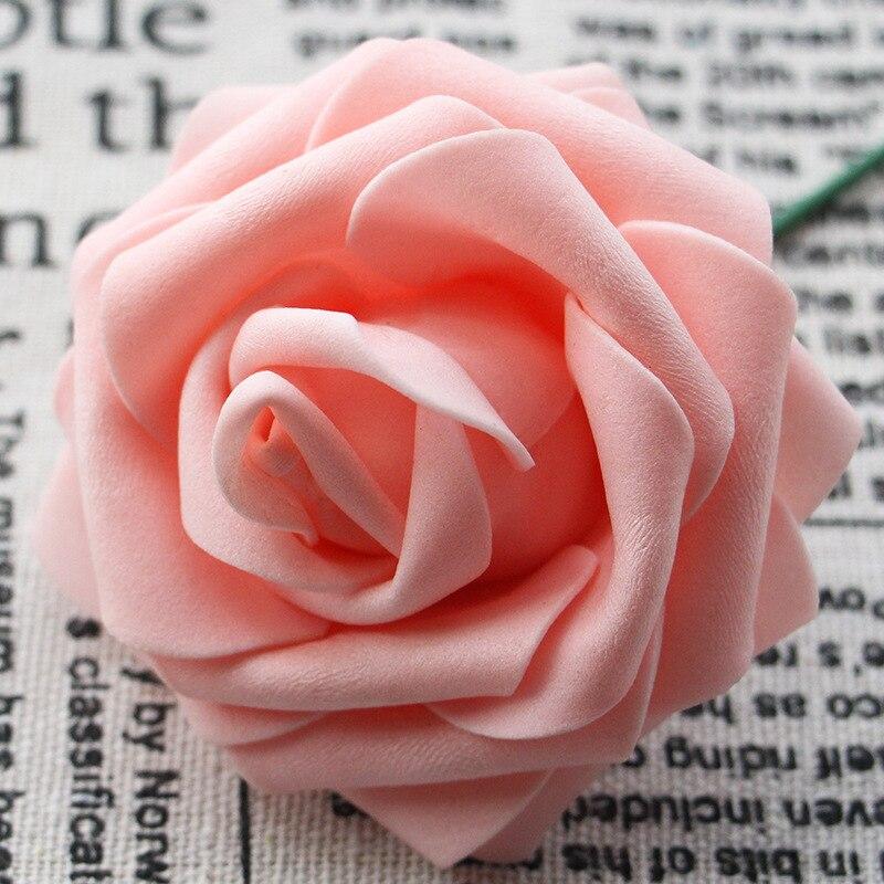 100 шт. мини пены PE розы искусственные цветы для свадьбы украшение автомобиля DIY помпоном венок декоративный День Святого Валентина поддельные цветы