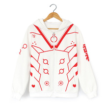 Free shipping new High Quality Game Character OW D.VA 100% cotton Thicken jacket /Hoodie Sweatshirt Cosplay Costume for Women