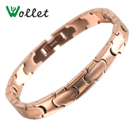 Wollet Jewelry New Health Care Rose Gold Color Conical 99 99 Metal Germanium With Circle Pure