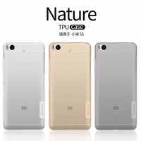 Xiaomi Mi5s Case Cover NILLKIN Nature Clear TPU Transparent Soft Case For Xiaomi Mi5s Luxury Brand