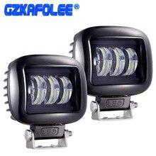 GZKAFOLEE faisceau lumineux de travail barre de led, pour motos, camion tout terrain, 3000lm, 12V 24V, jeep niva 4x4 atv, SUV