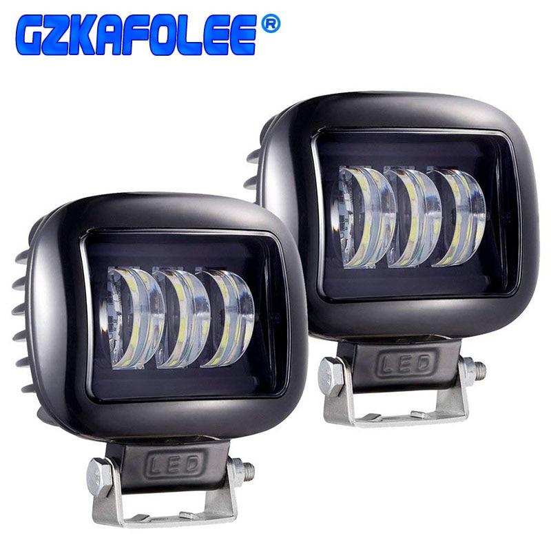 GZKAFOLEE luces led Barra de luz de trabajo haz offroad 30 W 3000LM 12 V 24 V para jeep niva 4x4 SUV atv motocicletas camión